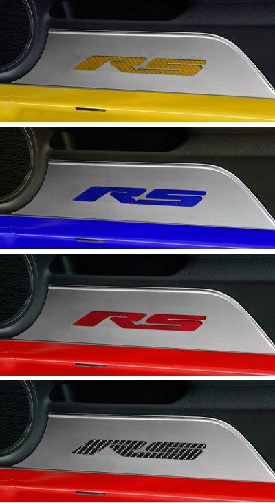Camaro RS Carbon Fiber Door Panel Kick Plates-Chevy Mall ...