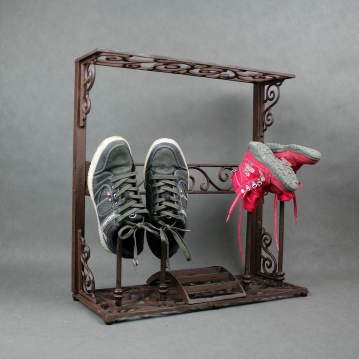 Litinový botník - stojan na boty