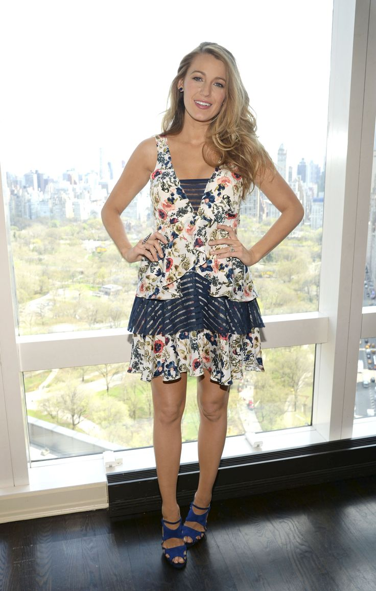 Blake Lively in a floral mini
