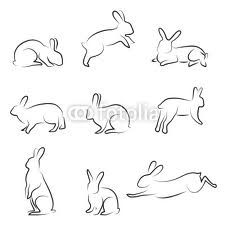 simple bunny outline