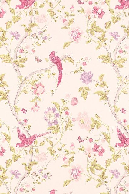 Spring freshness with this Summer Palace Cerise Floral wallpaper by Laura Ashley - Breakthrough Breast Cancer Products – Awareness Month (Vogue.com UK)