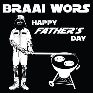 """Fathers Day"" Card for Kinky Rhino Greeting Cards in South Africa #southafricancard #southafrica #card #fathersday #starwars #weber #braai"