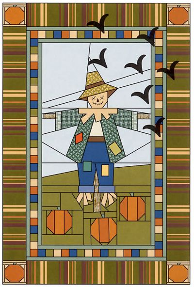 Paper-pieced scarecrow pattern