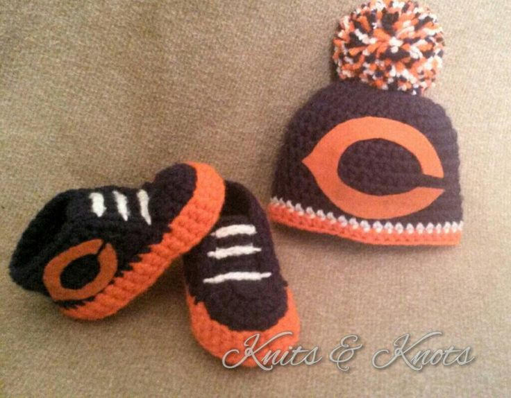 A personal favorite from my Etsy shop https://www.etsy.com/listing/244328060/chicago-bears-inspired-baby-booties-and
