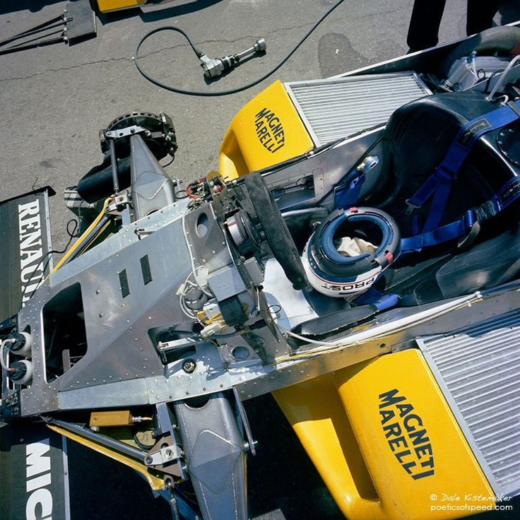 Chassis View – Alain Prost's Equipe Renault Elf RE30B – Caesar's Palace GP 1982