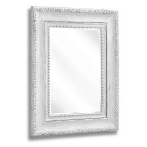 Weathered White Square Wall Mirror - Casafina