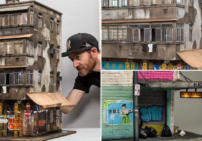 """Depois de 16 anos fazendo stencils e mais quatro coordenando uma galeria de arte em Adelaide, Austrália, o artista australiano Joshua Smith decidiu que era o momento de se dedicar a algo novo. Ele começou a se aperfeiçoar na arte das miniaturas, e vem reproduzindo cenários urbanos com um realismo impressionante. Inspirado pelo estilo """"enferrujado e decadente"""" de algumas cidades, Joshua cria maquetes em escala 1:20 cujas imagens poderiam facilmente passar por fotografias de prédios reais…"""