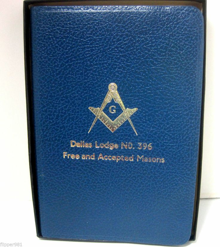 Holman Masonic Bible Dallas Lodge Free and Accepted Masons Blue Leather Bound   $24.95 and FREE Shipping