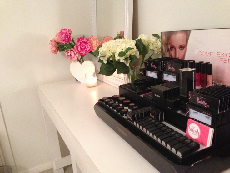 Our beautiful hair & makeup studio / makeup room used wedding hair & makeup trials for our brides