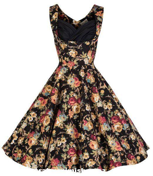vintage floral black dress