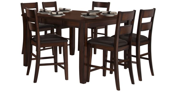 "Found this great product at cityfurniture.com, for only $599.95.  Set includes: High table and four 24"", counter-height barstools    Introduce a classic style into your home with the Mango high dining table set. A contemporary look that fuses functional design with a rustic handmade feel, the set is constructed with environmentally conscious mango wood."