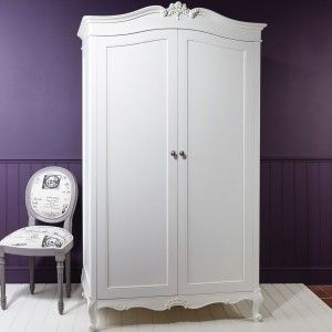 Storage doesn't have to be boring, take our word for it. Our Chalk Wardrobe by Frank Hudson is the perfect Armoire for storing your best party frocks. Handmade by master craftsman from ethically sourced mahogany this French Style Armoire is elegance personified with just the right amount of carved detailing to add a little luxury to your French Bedroom. As you have come to expect from Frank Hudson is is also finished by hand in a soft chalk white and is perfect for many an interior dream....