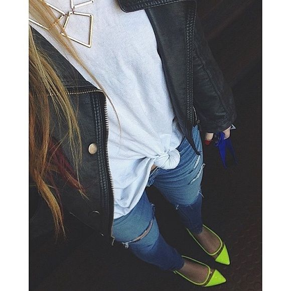 BRIGHT NEON FLATS!!!! Perfect for spring minor wear shown Shoes