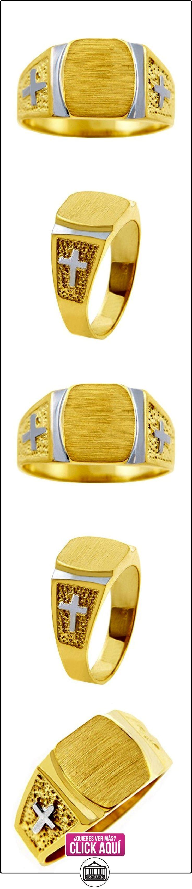 Pequeños Tesoros - Anillos Hombres 10 Kt Oro 2 Colores 471/1000 Cruzar Sortija De sello  ✿ Joyas para hombres especiales - lujo ✿ ▬► Ver oferta: http://comprar.io/goto/B01277TLX0