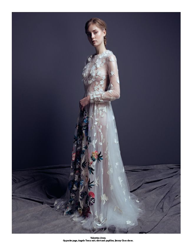 From our editorial: PAINTER'S STUDIO. Ph.: Marco D'Amato. Stylist: Sabrina Mellace. Valentino dress. #Valentino @valentino #dress  #fashion #look #style #wedding #bride #weddingdress #ideas