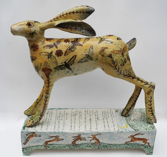 Ceramic Hare on the Common by Georgina Warne