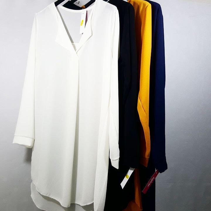 #abito #camicia #maxy #nero #blu #bianco #senape #valeria #abbigliamento