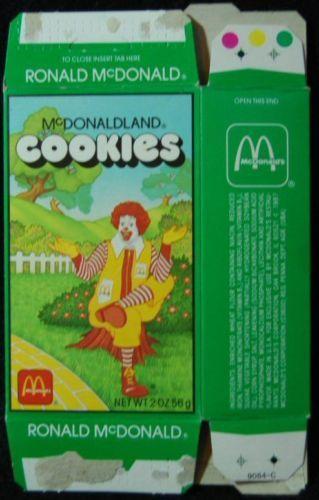 1987 MCDONALDLAND COOKIES Box -- with Ronald McDonald -- Vintage McDonald's