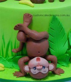 Upside down fondant monkey by CustomCakeDesigns on DeviantArt