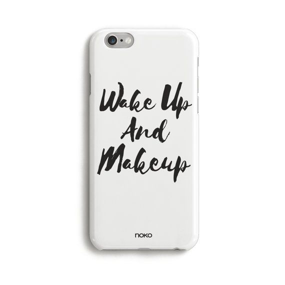 DESCRIPTION: NOKO Clear Wake Up and Make Up Quote iPhone Case.  Designed in Italy - Made in USA  The case is made of transparent polycarbonate