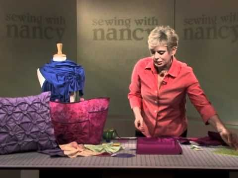 Watch as Nancy demonstrates creating fun smocking accents on scarves, handbags, and pillows using traditional yo-yo shapes in a very non-traditional way.  http://www.nancysnotions.com/category/video+demos/yo+yo+smocking.do