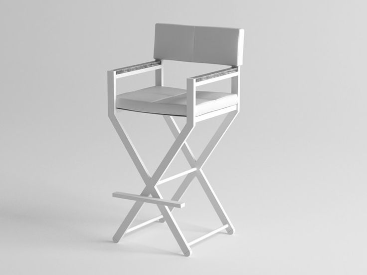 High aluminium garden stool with armrests ULTRA Collection by 10Deka