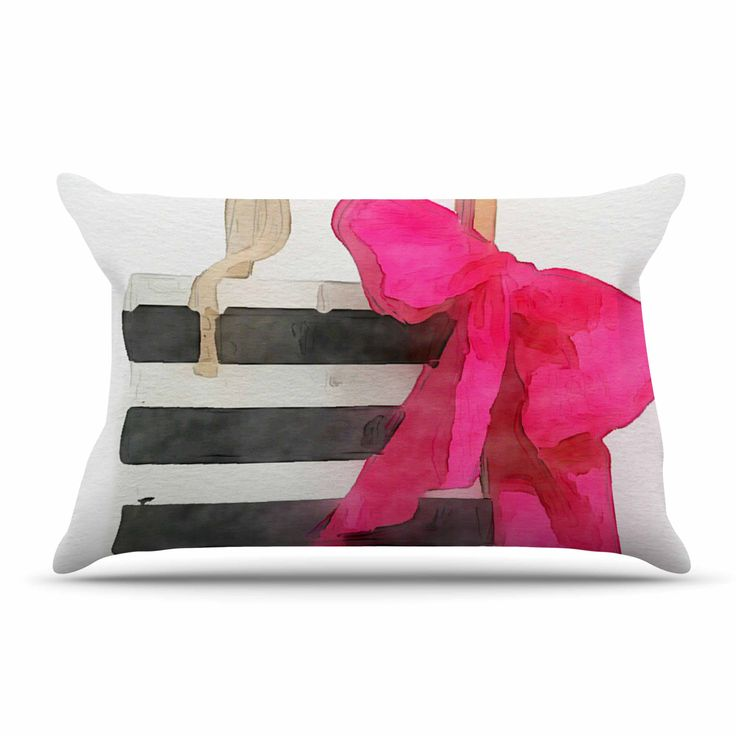 """Oriana Cordero """"French Outing"""" Black Pink Pillow Case"""