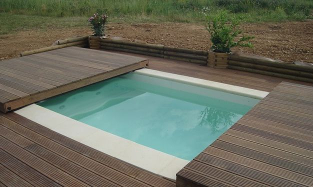 Abri piscine POOLABRI - Abri de piscine plat amovible - 2 terrasses mobiles - Abris fonctionnel et moderne