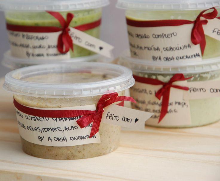 Temperos caseiros batidos de alho e ervas