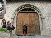 Our caravanserai entrance, Azerbaijan