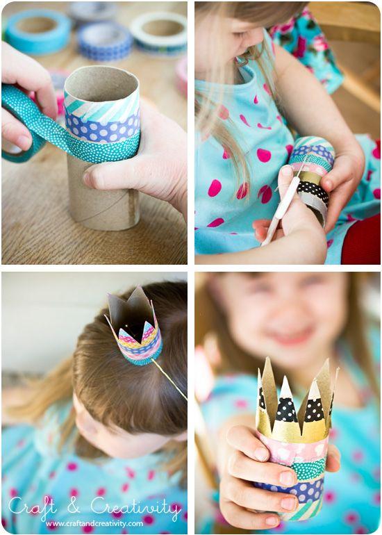 Simple birthday crowns - by Craft & Creativity