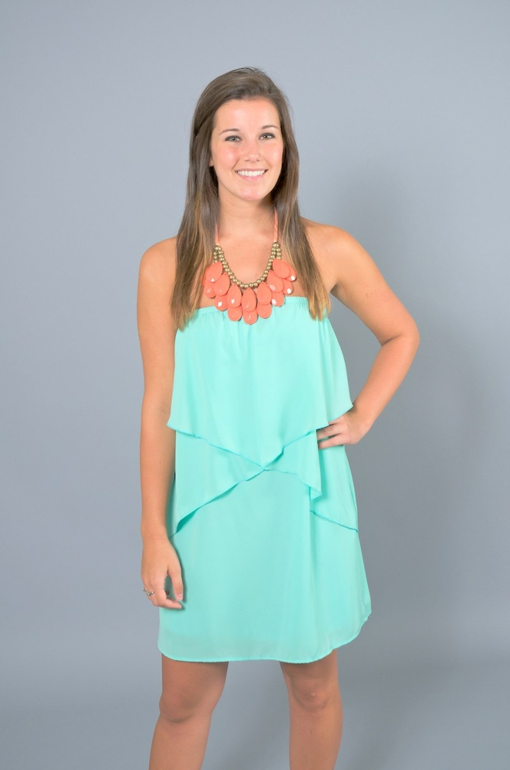 EVERLY: Heart Of It All Dress-Mint