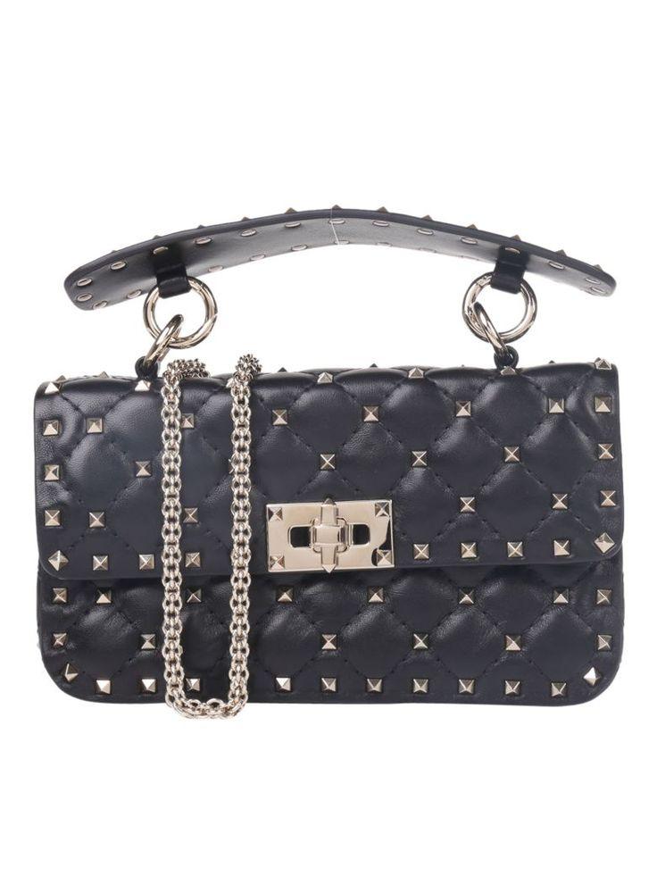 VALENTINO Valentino Garavani Rockstud Spike Small Chain Bag. #valentino #bags #shoulder bags #hand bags #leather #