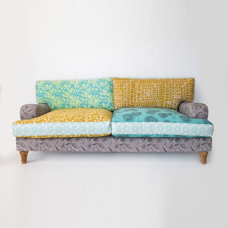 The Patch sofa is a fun and eclectic sofa. Upholstered with fabrics hand printed in South Africa, this sofa is a great statement in any interior. It has loose back and base cushions, classic turned feet and wide low curved arms. It gives the a classic look a friendly twist.Dimensions Width: 2200mm Depth: 960mm Height: 800mm Seat Height: 460mm