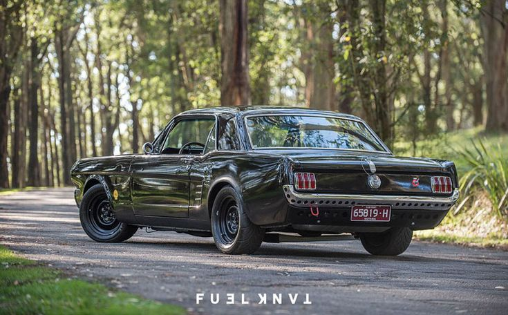 When Justin showed up to one of our Coffee & Classics events in his '66  Mustang project, he turned the heads of everyone there. Not only that, it  sounded tough and Justin takes his family around in it, baby seat and all.  We just had to take a closer look so we made the trip out to the stic