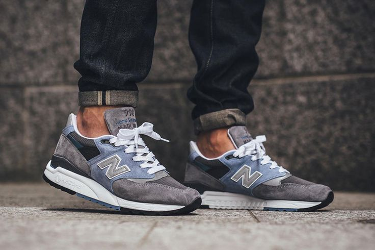 """New Balance has unveiled yet another edition of their 998 sneaker, this one in a two-toned """"Cool Grey"""" colorway cut with blue suede."""