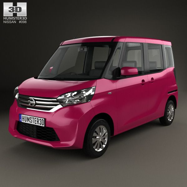 Nissan Dayz Roox 2013 3d model from humster3d.com. Price: $75