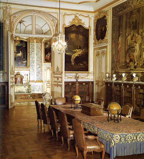 Dining room and salon. Museum of Decorative Art, Strasbourg, France