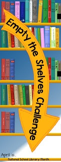 Challenge students to empty the library shelves by reading ALL of the books in a section!   riskingfailure.blogspot.com