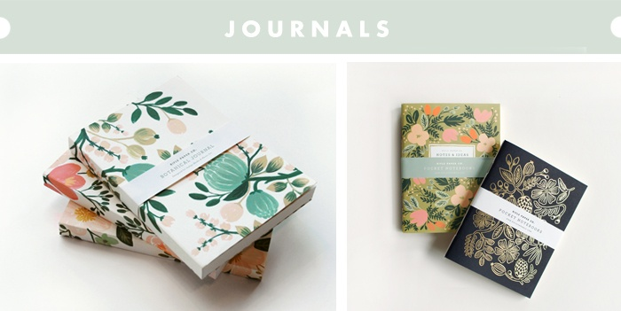 these are the cutest journals from an awesome company Rifle Paper Co.