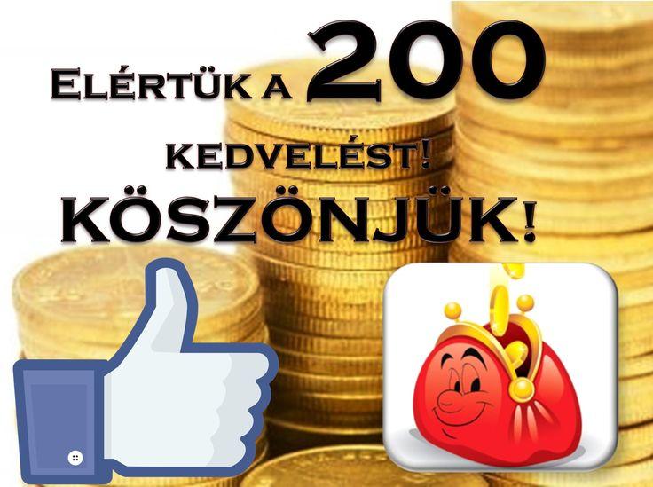Nagy-nagy örömmel jelentjük be, hogy elértük a 200 kedvelést, melyet mindenkinek köszönünk! :)