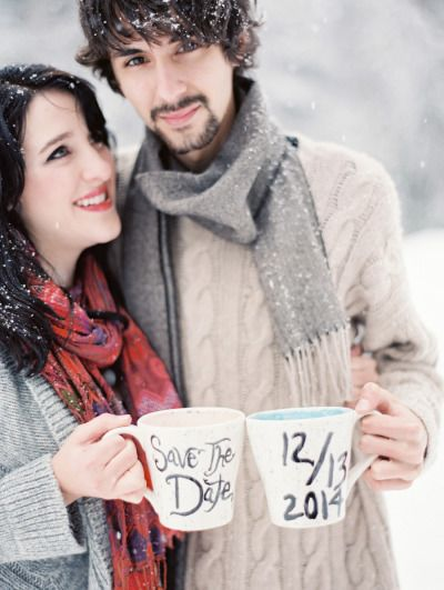 Save the Date! http://www.stylemepretty.com/montana-weddings/west-glacier/2015/02/10/winter-wonderland-engagement-session/ | Photography: Jeremiah & Rachel - http://jeremiahandrachel.com/