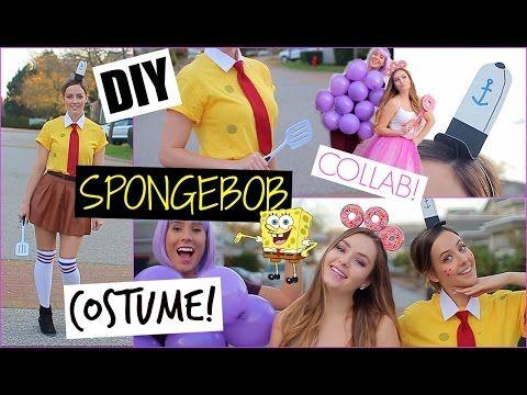 DIY Spongebob Halloween Costume, Makeup & Party Decor! - YouTube