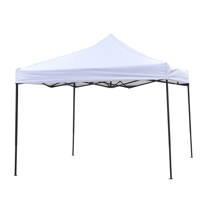 Trademark Innovations Lightweight and Portable Canopy Tent Set - 10 x 10 ft White - 10FTCAN-WHITE