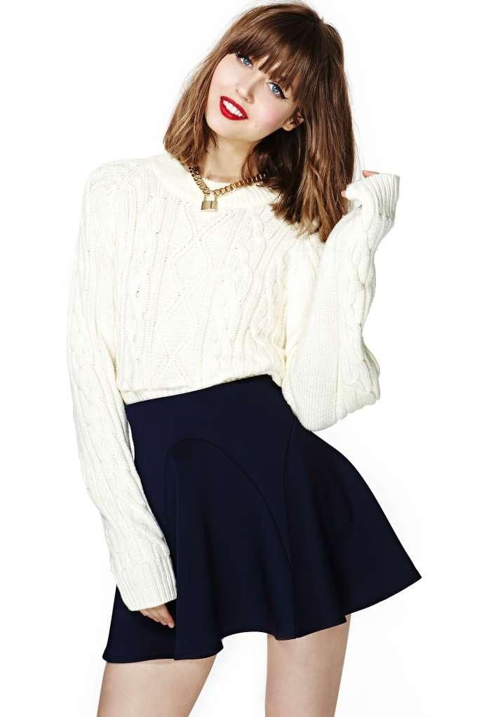 Nasty Gal Kayla Skater Skirt
