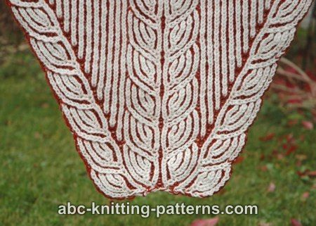 ABC Knitting Patterns - Sheaves of Barley Brioche Stole