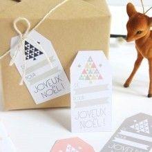 diy étiquettes cadeaux Noël à imprimer