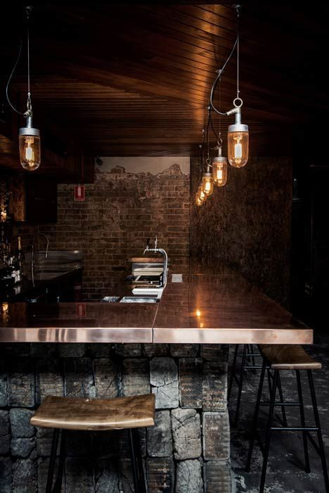 Rustic atmospheric bars new york style and bar for Bar madera rustica