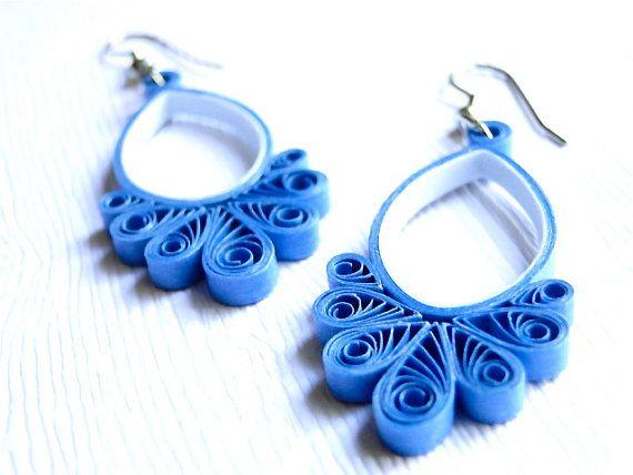 Blue earrings,  handmade dangle earrings, Lovely jewels