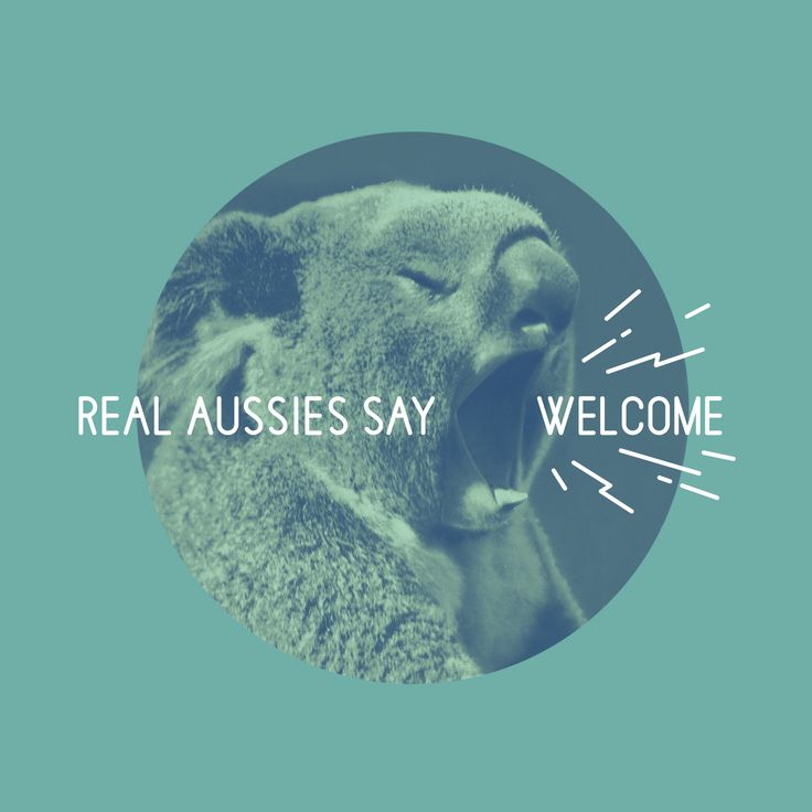 Real Australians Say Welcome  |  Design by Studio Lowbrow
